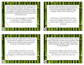 Proverbs and Adages Taskcards