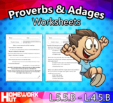 Distance Learning - Proverbs and Adages Worksheets