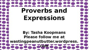 Proverbs and Expressions