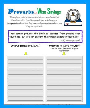 Proverbs and Wise Sayings