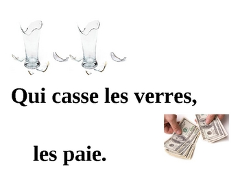 Proverbs in French Posters