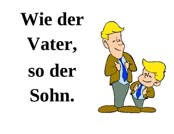 Proverbs in German Posters