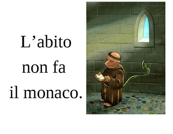 Proverbs in Italian Posters