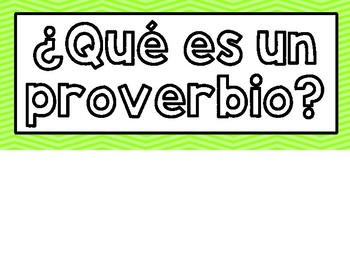 Proverbs in Spanish