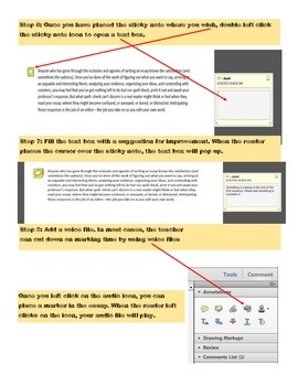 Providing Essay Feedback Via Electronic Sticky Notes and Voice Files
