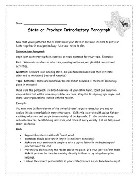Province or State Research Report Brochure/Paper