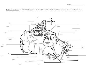 Provinces and Capitals of Canada