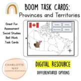 Provinces and Territories of Canada: Boom Task Cards!