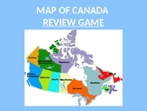 Provinces of Canada Map Review PowerPoint Template