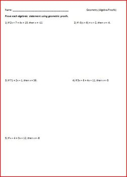 Proving Algebraic Equations