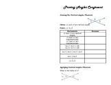 Proving Angles Congruent Foldable