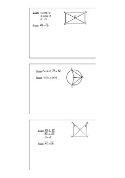 Proving Congruent Triangles Proof Stations