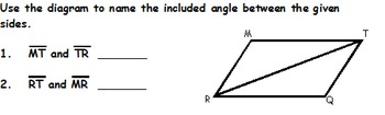 Proving Congruent Triangles SSS & SAS worksheet