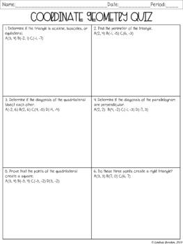 Coordinate Geometry Quiz