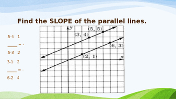 Proving Lines Parallel By Slope