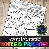 Proving Lines Parallel Doodle Notes & Practice Worksheet; Geometry
