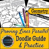 Proving Lines Parallel Doodle Guide and Practice Worksheet   Geometry