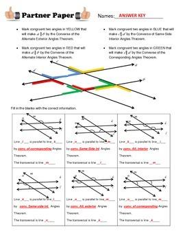 Proving Lines Parallel Partner Paper