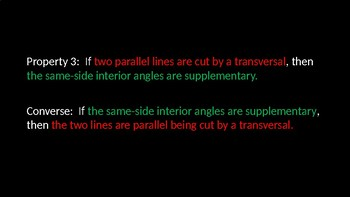 Proving Lines Parallel - PowerPoint Lesson (3.3)