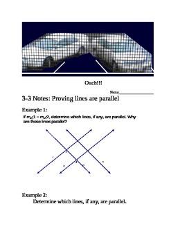 Proving Lines Parallel Unit