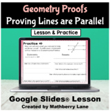 Proving Lines are Parallel Geometry Converse Theorems