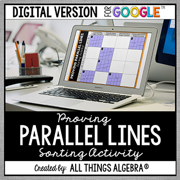 Proving Lines are Parallel Sorting Activity - GOOGLE SLIDES VERSION