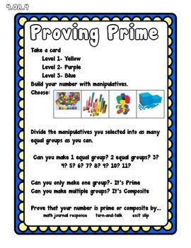 Proving Prime Math Center