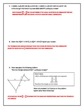 Proving Triangle Similar (PDF)