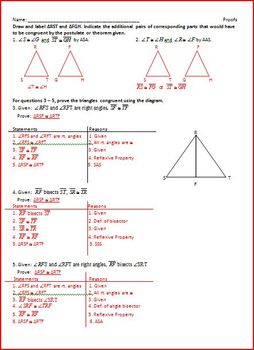 Proving Triangles Congruent (WS)