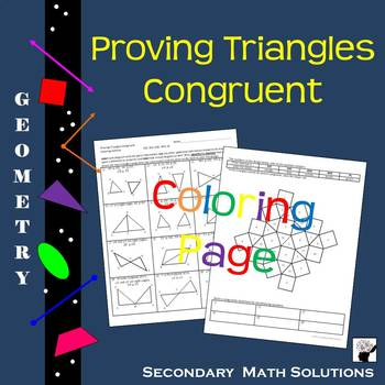 Proving Triangles Congruent Coloring Activity (G6B)
