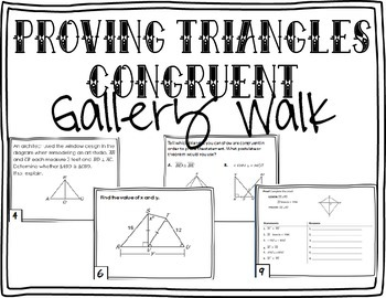 Proving Triangles Congruent Gallery Walk