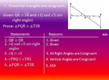 Proving Triangles Congruent PP