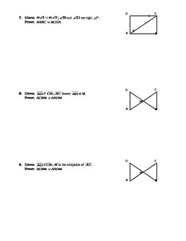 Proving Triangles Congruent Proofs