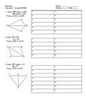Proving Triangles Congruent Using ASA/AAS Worksheet