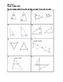 Proving Triangles Similar