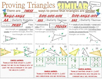 Proving Triangles Similar Doodle Notes