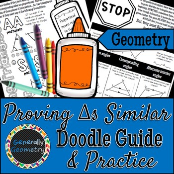 Proving Triangles Similar Doodle Guide & Practice Worksheet; Geometry