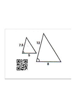 Proving Triangles Similar QR Code Activity
