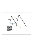 Proving Triangles Similar QR Code Activity