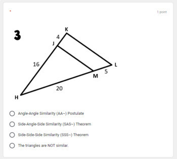 Proving Triangles Similar- digital assignment for use with Google