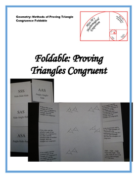 Proving Triangles are Congruent Foldable