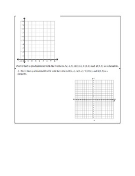 Proving if a Quadrilateral is a Rhombus