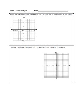 Proving if a quadrilateral is a Square