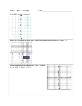 Proving if a quadrilateral is a rectangle