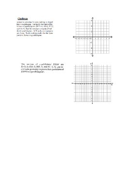 Proving is a shape is a Paralleogram worksheet