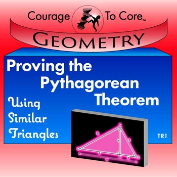 Proving the Pythagorean Theorem with Similar Triangles