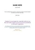 Provisional to Full Registration Portfolio Layout (Editabl