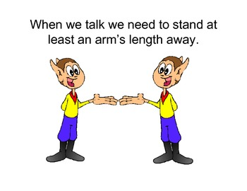 Proximity when talking to others