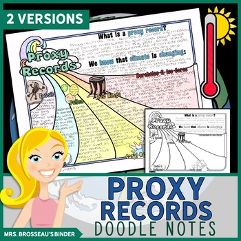 Proxy Records - Climate Change Science Doodle Note