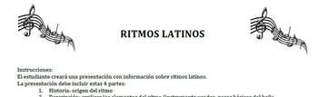 Proyecto AP Spanish Ritmos latinos